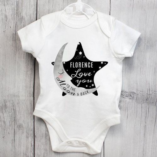 Baby To The Moon and Back 0-3 Months Baby Vest